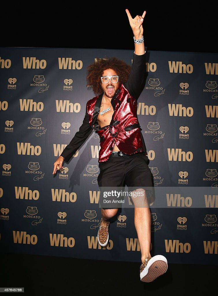 Redfoo poses at WHO's sexiest people party 2014 at Fox Studios on October 22, 2014 in Sydney, Australia.