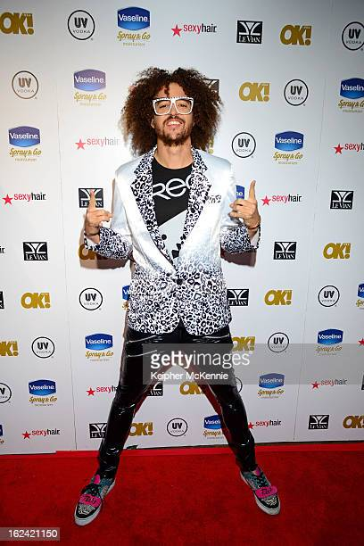 Redfoo steps on the red carpet at OK Magazine PreOscar Party at The Emerson Theatre on February 22 2013 in Hollywood California
