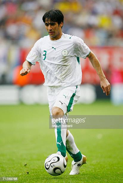 Redha Tukar of Saudi Arabia in action during the FIFA World Cup Germany 2006 Group H match between Saudi Arabia and Ukraine played at the Stadium...