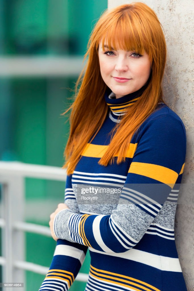 Red-haired Woman, Portraits in Berlin, Germany : Stock Photo