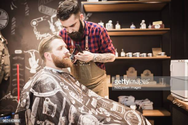 Fuligule à tête rouge, des gars barbu à la coiffure