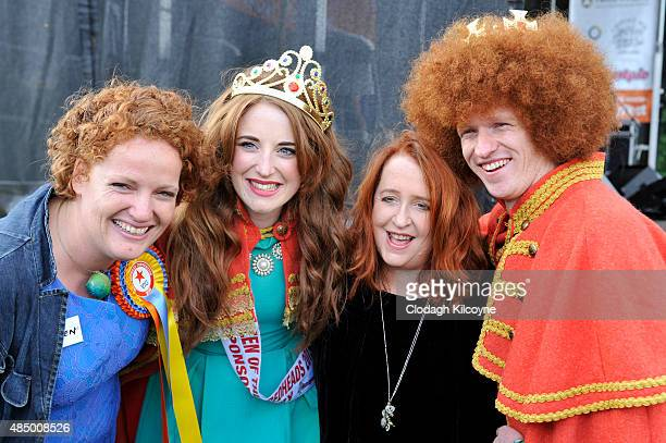 Redhead Convention founder Joleen Cronin redhead Queen Grainne Keena singer Mary Coughlan and redhead King Alan Reidy at the Irish Redhead Convention...
