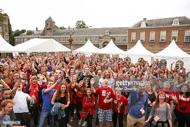 Redhead guests attend Redhead Days on September 4 2016 in Breda Netherlands The 11th annual festival welcomes over 1800 redheaded guests their family...