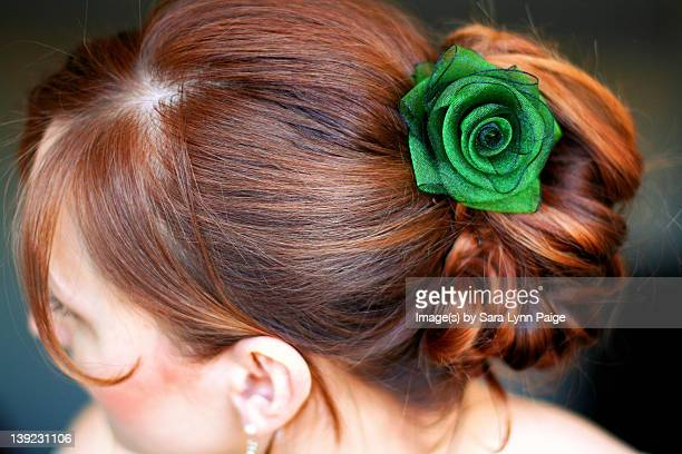redheaded fancy updo - ginger lynn stock pictures, royalty-free photos & images