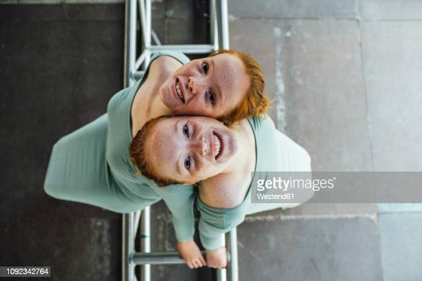 redheaded twins - twin stock pictures, royalty-free photos & images