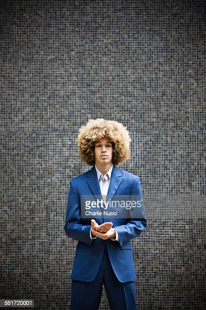 Redheaded Young Man with Afro
