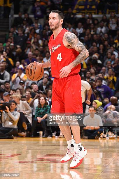 J Redick of the LA Clippers handles the ball against the Los Angeles Lakers on December 25 2016 at STAPLES Center in Los Angeles California NOTE TO...