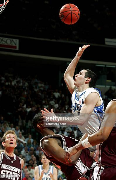 Redick of the Duke Blue Devils goes in for a layup against the Mississippi State Bulldogs during their second round NCAA Tournament game at the...