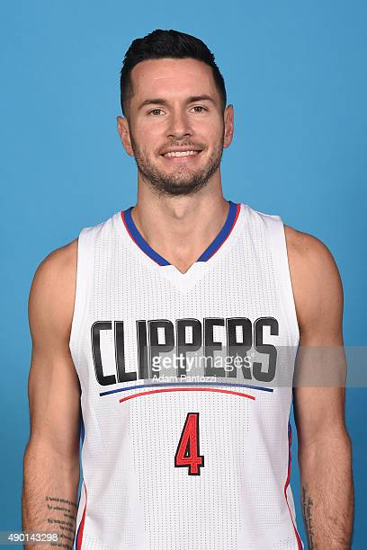 J Redick of the Los Angeles Clippers poses for a headshot during media day at the Los Angeles Clippers Training Center on September 25 2015 in Playa...