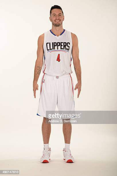 J Redick of the Los Angeles Clippers poses for a portrait during media day at the Los Angeles Clippers Training Center on September 25 2015 in Playa...