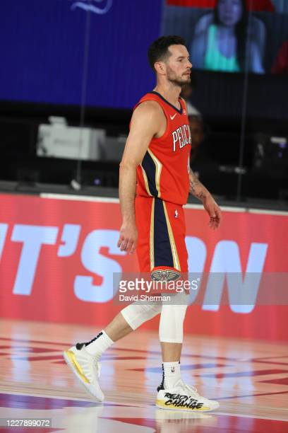 JJ Redick of the New Orleans Pelicans looks on during the game against the Memphis Grizzlies on August 3 2020 at HP Field House at ESPN Wide World of...