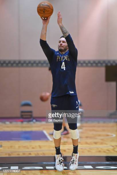 Redick of the New Orleans Pelicans shoots the ball during practice as part of the NBA Restart 2020 on July 21 2020 in Orlando Florida NOTE TO USER...