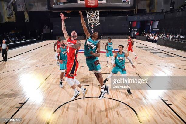 JJ Redick of the New Orleans Pelicans shoots the ball during the game against the Memphis Grizzlies on August 3 2020 at The Visa Athletic Center at...