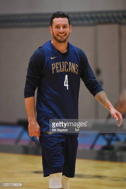 Redick of the New Orleans Pelicans smiles during practice as part of the NBA Restart 2020 on July 21 2020 in Orlando Florida NOTE TO USER User...