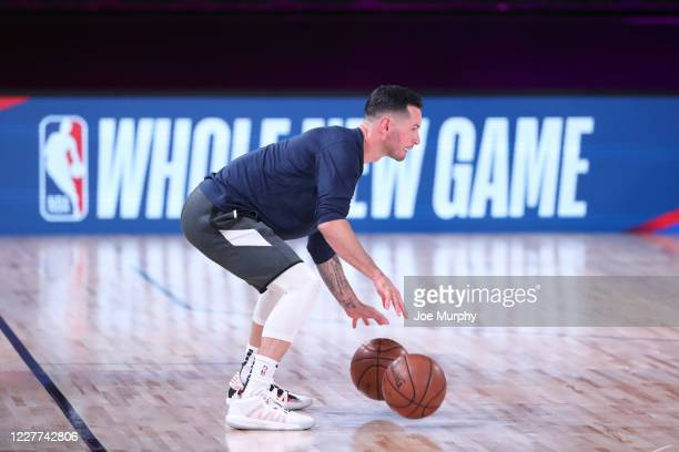 Redick of the New Orleans Pelicans warms up before the game on July 22 2020 at The Arena at ESPN Wide World of Sports Complex in Orlando Florida NOTE...