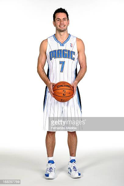 J Redick of the Orlando Magic poses for a portrait at media day on October 1 2012 at Amway Center in Orlando Florida NOTE TO USER User expressly...