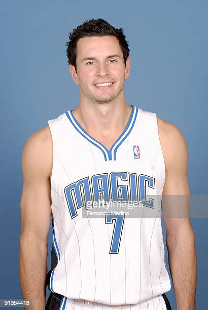 J Redick of the Orlando Magic poses for a portrait during 2009 NBA Media Day on September 28 2009 at the RDV Sportsplex in Maitland Florida NOTE TO...