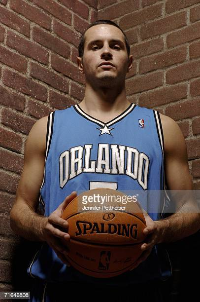 Redick of the Orlando Magic poses for a portrait during the 2006 NBA Rookie Photo Shoot on August 14, 2006 at the MSG Training Facility in Tarrytown,...