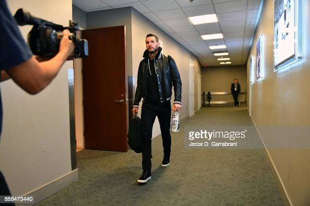 Redick of the Philadelphia 76ers arrives at the arena before the game against the Los Angeles Lakers on December 7 2017 at Wells Fargo Center in...