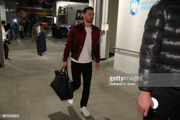 Redick of the Philadelphia 76ers arrives to the arena prior to the game against the Brooklyn Nets on March 11 2018 at Barclays Center in Brooklyn New...