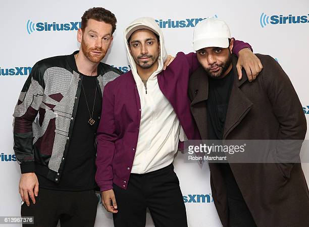 Redinho Riz Ahmed and Heems of Swet Shop Boys visits at SiriusXM Studio on October 11 2016 in New York City