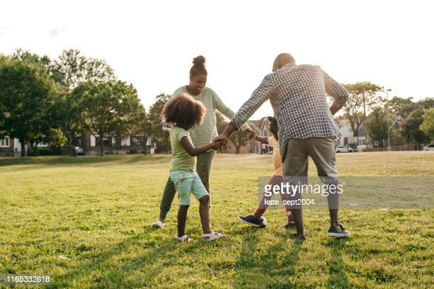rediscovering nature with your family - stepfamily stock photos and pictures