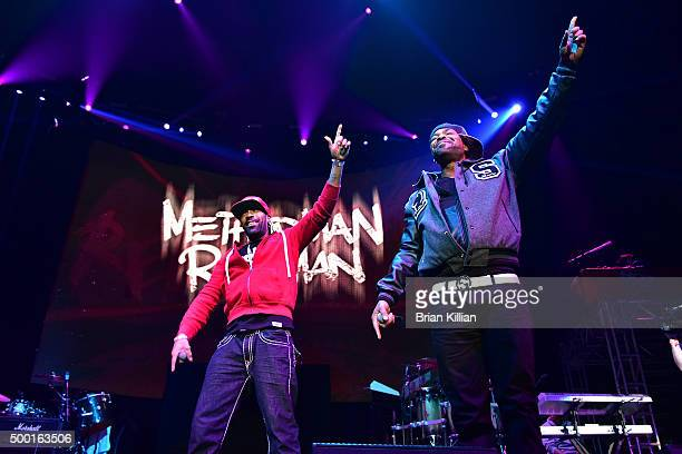 Redman and Methoid Man perform at The Conglomerate And Hot 97 Present Busta Rhymes And Friends Hot For The Holiday at Prudential Center on December 5...