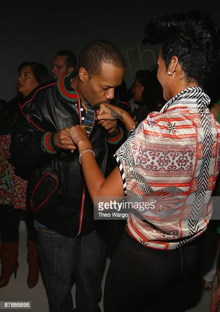 *EXCLUSIVE* Redman and Rihanna attend the Island Def Jam Spring Collection party at Stephen Weiss Studio on May 20 2009 in New York City