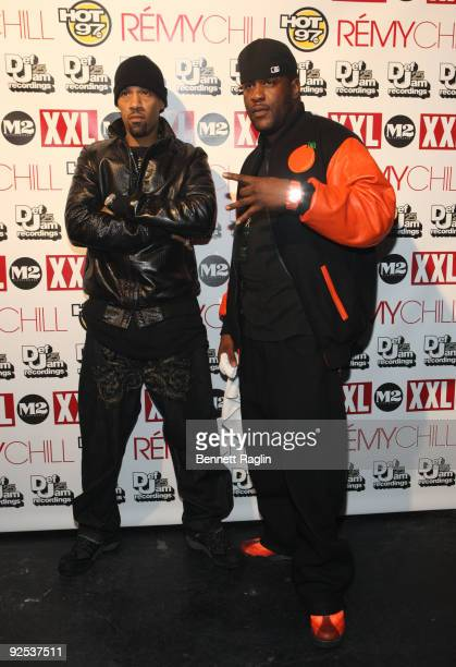 Redman and Street attend the 25th Anniversary of DefJam Records presented by XXL at M2 Ultra Lounge on October 29, 2009 in New York City.