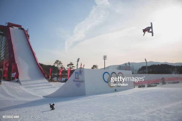 Redmond Gerald USA during the men's snowboard big air qualification at the Pyeongchang 2018 Winter Olympics on February 21st 2018 at the Alpensia Ski...