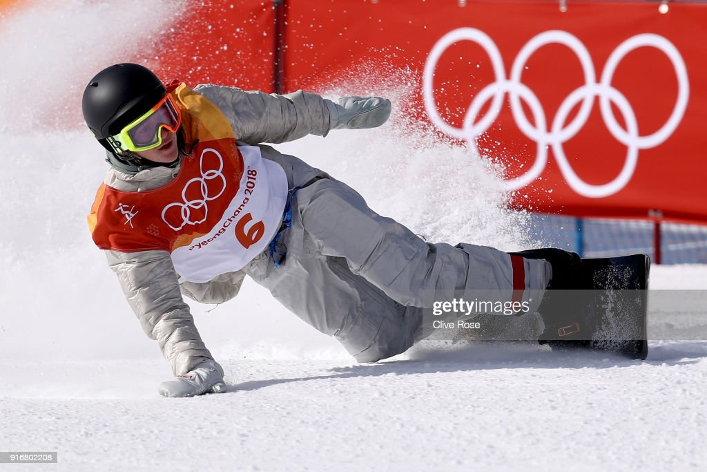 Redmond Gerard of the United States celebrates as he enters the finish area after his final run in the Snowboard Men's Slopestyle Final on day two of the PyeongChang 2018 Winter Olympic Games at Phoenix Snow Park on February 11, 2018 in Pyeongchang-gun, South Korea.