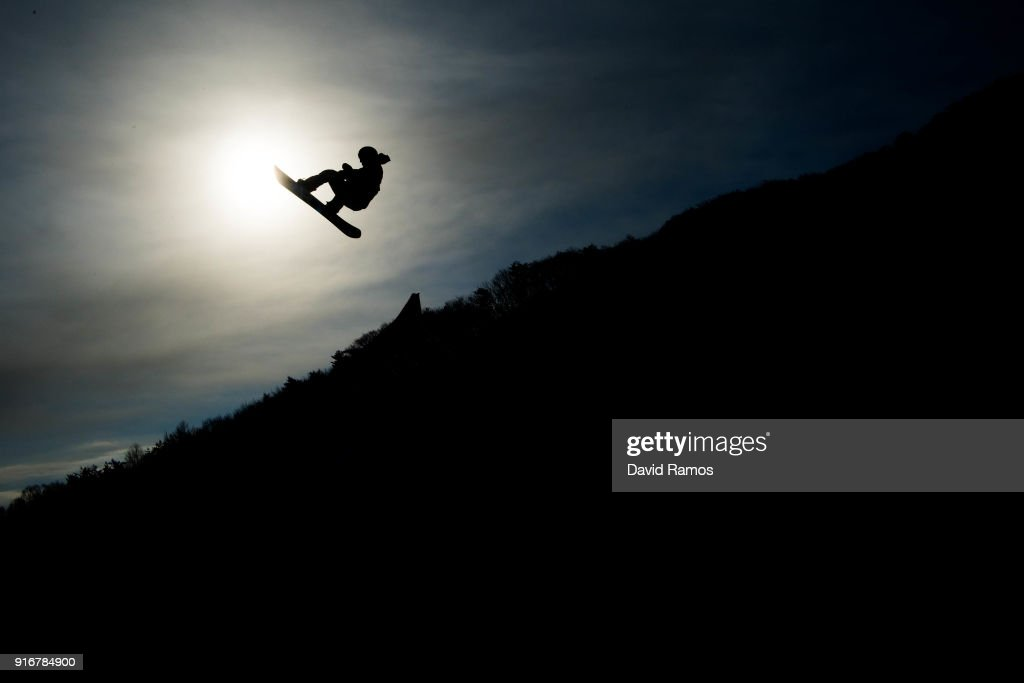 Redmond Gerard of the United States practice ahead of the Snowboard Men's Slopestyle Final on day two of the PyeongChang 2018 Winter Olympic Games at Pheonix Snow Park on February 11, 2018 in Pyeongchang-gun, South Korea.