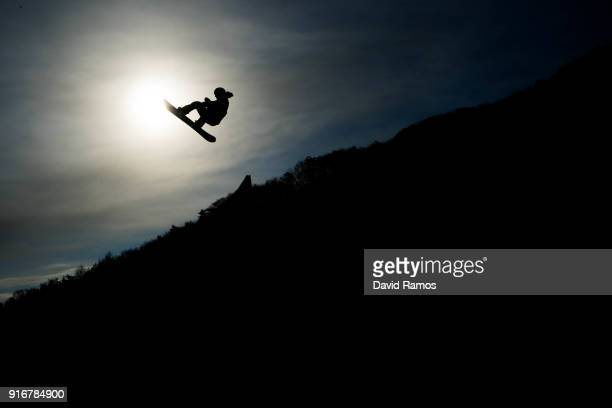 Redmond Gerard of the United States practice ahead of the Snowboard Men's Slopestyle Final on day two of the PyeongChang 2018 Winter Olympic Games at...