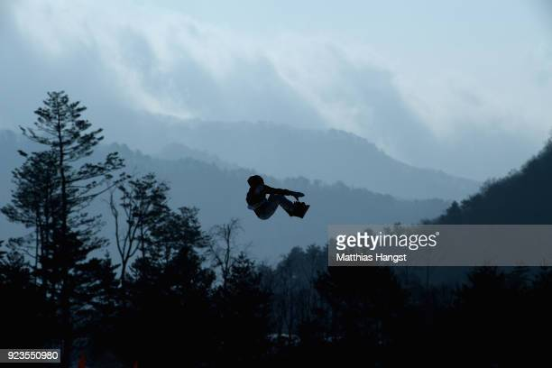 Redmond Gerard of the United States practices prior to the Men's Big Air Final on day 15 of the PyeongChang 2018 Winter Olympic Games at Alpensia Ski...