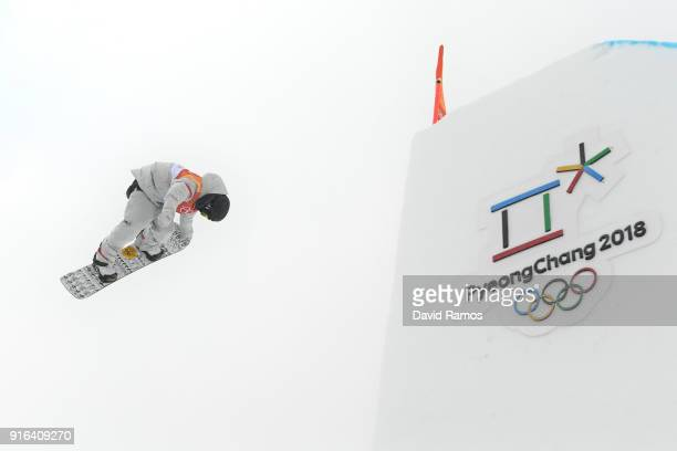 Redmond Gerard of the United States trains ahead of the Men's Slopestyle qualification on day one of the PyeongChang 2018 Winter Olympic Games at...