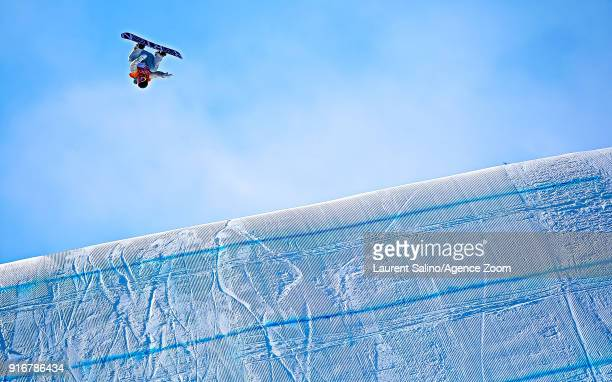 Redmond Gerard wins the gold medal during the Snowboarding Men's Slopestyle Finals at Pheonix Snow Park on February 11, 2018 in Pyeongchang-gun,...