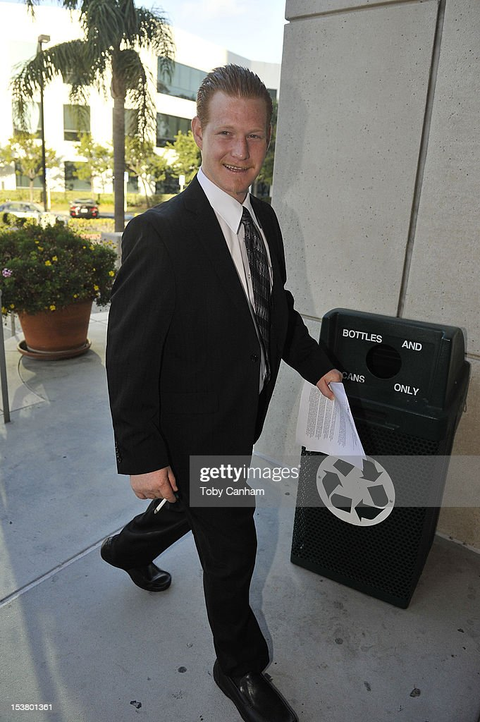 Redmond O'Neal arrives for his final progress report at LAX Courthouse on October 9, 2012 in Los Angeles, California.