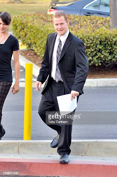 Redmond O'Neal arrives for his final progress report at LAX Courthouse on October 9 2012 in Los Angeles California