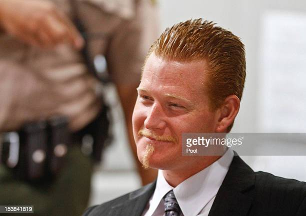 Redmond O'Neal smiles while the judge praises his recovery effort in the Airport Branch Courthouse October 9 2012 in Los Angeles California O'Neil...
