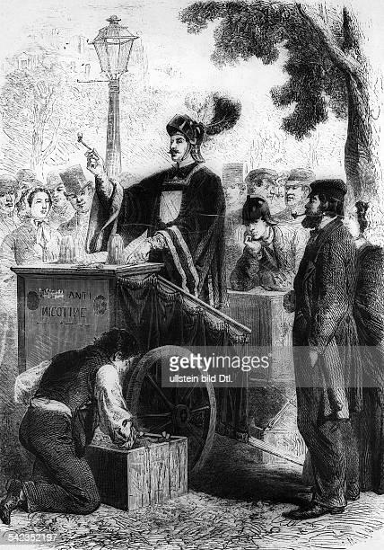 Redner bei einer AntiRauchKampagneParis 1860