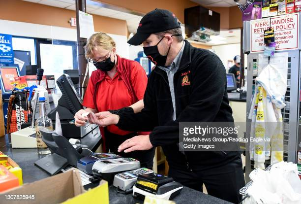 Redner's Quick Shoppe employee Julie Zezenski and Manager Pete Ostrowski work behind the counter at the Redner's Quick Shoppe on Tuckerton Road in...