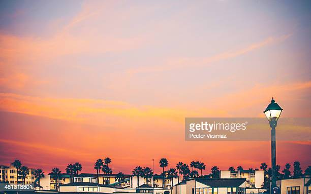 redondo beach sunset. - time of day stock pictures, royalty-free photos & images