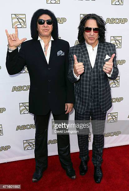 Redording artists Gene Simmons and Paul Stanley attend the 32nd Annual ASCAP Pop Music Awards at the Lowes Hollywood Hotel on April 29, 2015 in...
