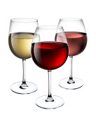 Red,Rose and White Wine
