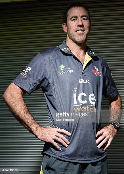 Reds head coach Richard Graham poses for a photograph during a Queensland Reds Super Rugby media opportunity at Ballymore Stadium on May 20 2015 in...