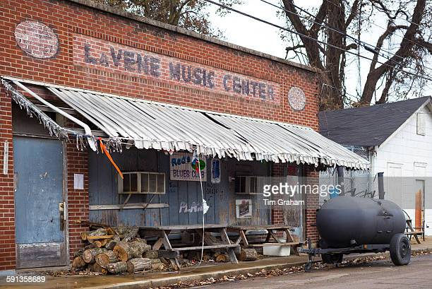 Red's Lounge Blues Club entrance in Clarksdale birthplace of the Blues Mississippi USA