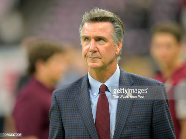 Redskins president Bruce Allen before a game between the Washington Redskins and the New Orleans Saints at the MercedesBenz Superdome on October 8 in...