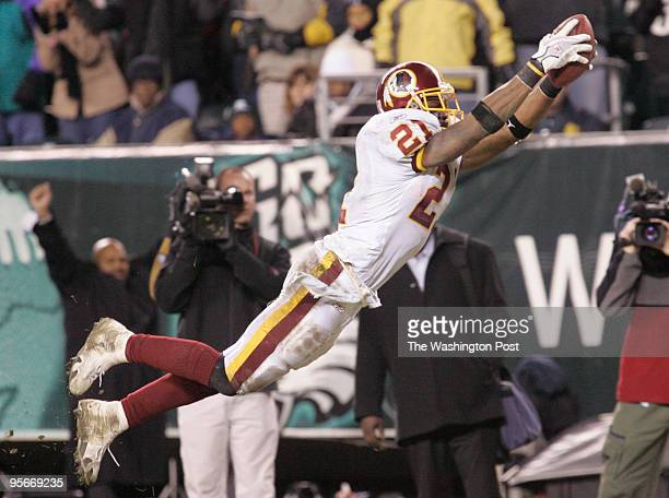 Redskins safety Sean Taylor seals the fate of the Philadelphia Eagles and the Redskins as he dives in to the endzone for the game's final touchdown...