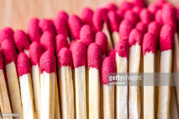 Red-tipped matches, matchsticks