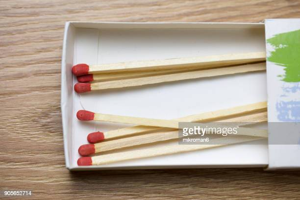 Red-tipped matches, matchsticks